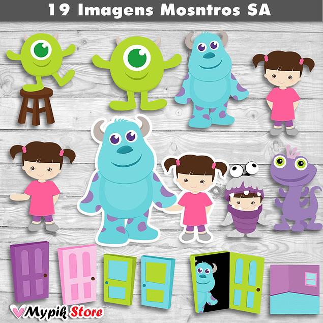 Kit Digital Imagens Monstros S.A Cutes - 01