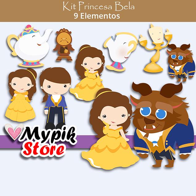 Kit Digital Princesa Disney  Bela e a Fera