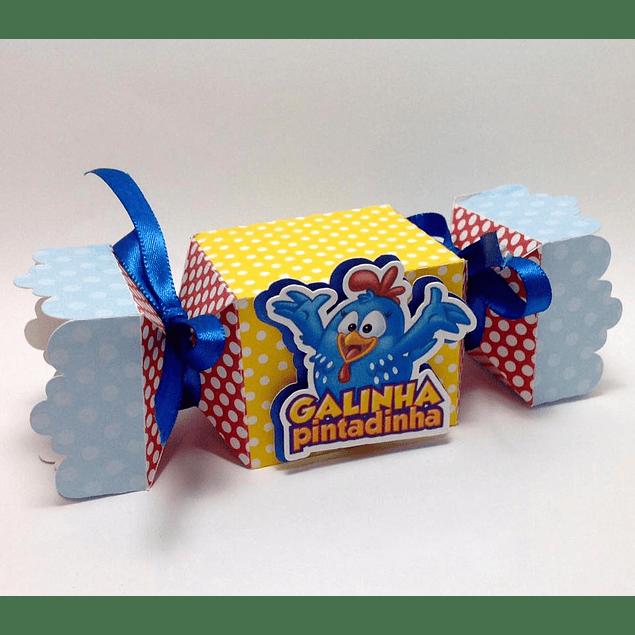 CAIXA BALA GALINHA PINTADINHA PRONTA IMPRIMIR NA SILHOUETTE