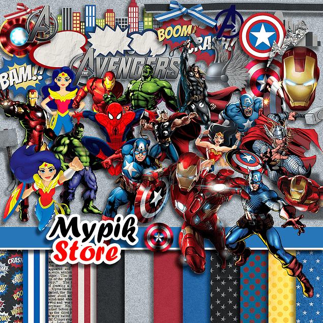 Kit digital de Marvel Avengers para imprimir