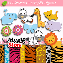 Kit Digital Animais Zoológico