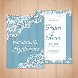 Plantilla editable de invitación de boda