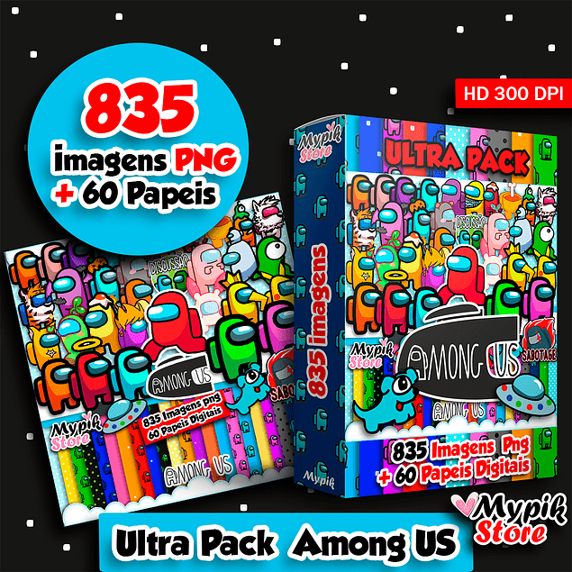 Pack Digital Among US Imagens png - Scrapbook