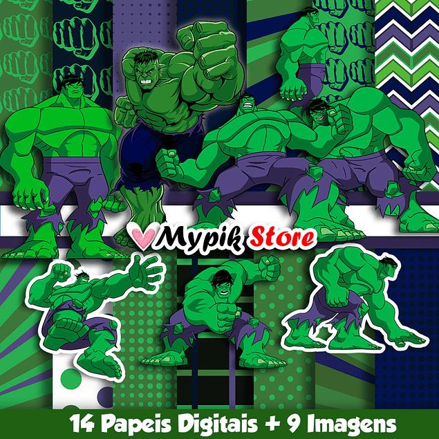 Kit Digital O incrível Hulk - Coleção Scrapbook