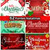 Pack 62 Fontes Instaláveis Natalinas