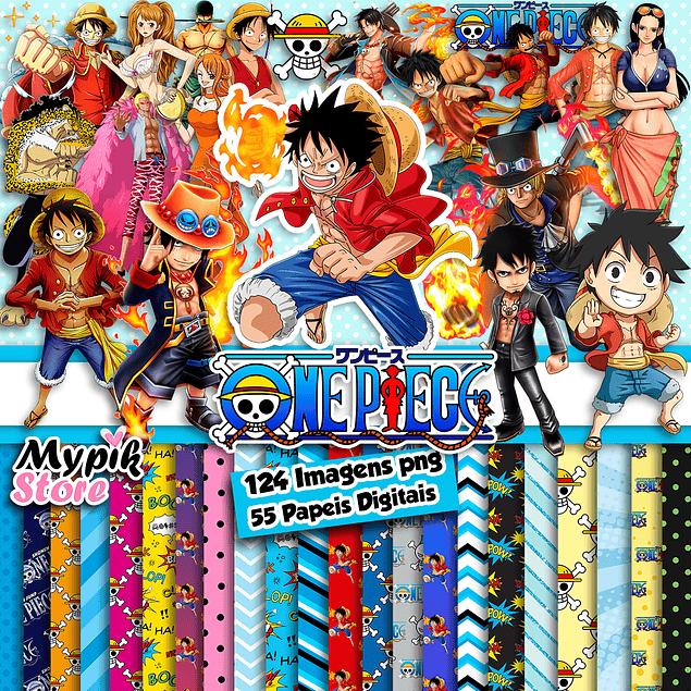Super Kit Digital One Piece - Imagens PNG e Papeis Digitais