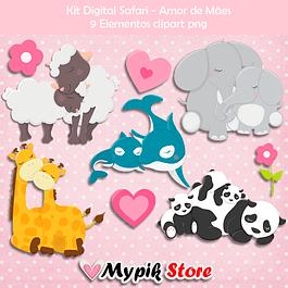 Kit Digital Safári Amor de Mãe