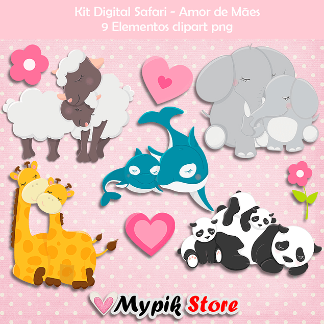 Kit Digital Safari Amor de Madre
