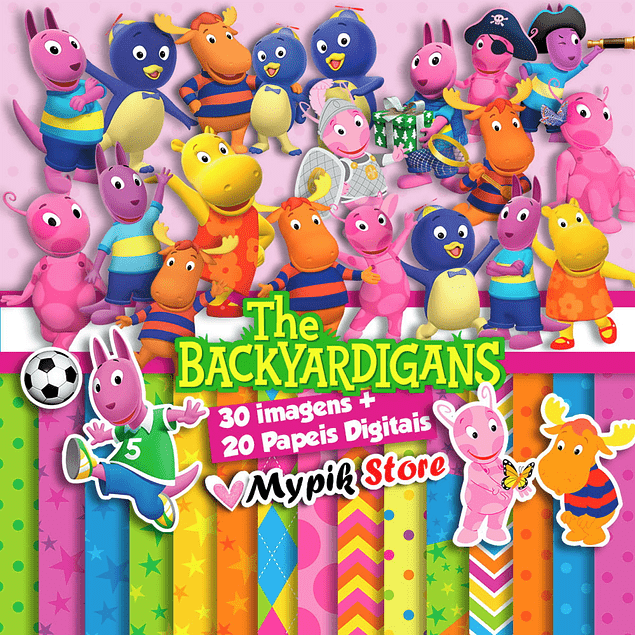 Kit Digital The Backyardigans - Scrapbook