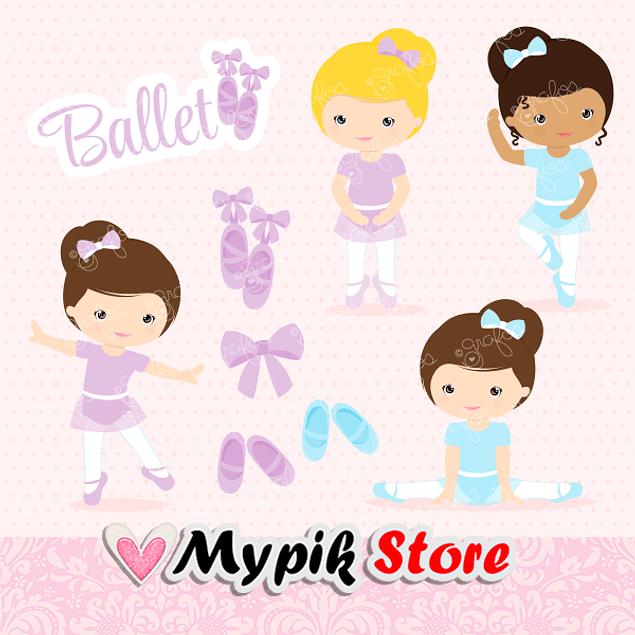 Kit Digital Princesas Bailarina