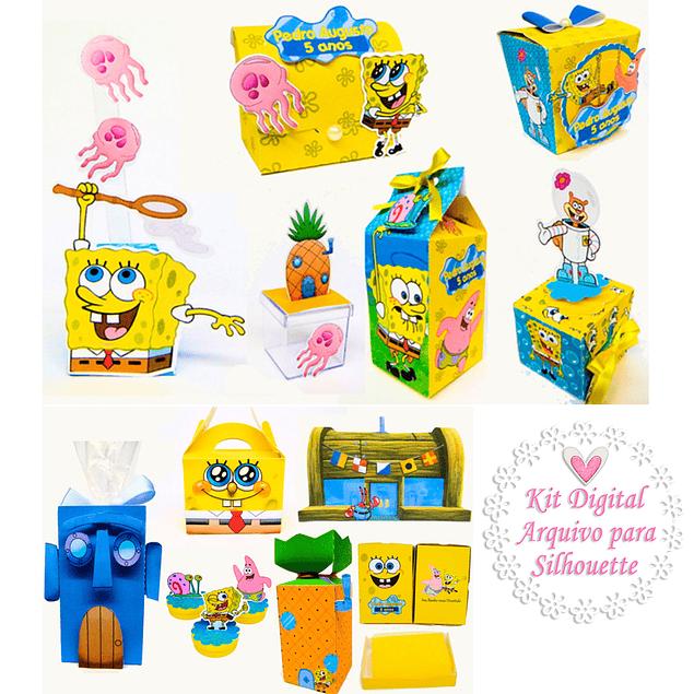 Kit digital SpongeBob Ready Party - Archivo de corte de silueta