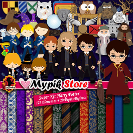 Super Kit Digital Harry Potter para Imprimir e Personalizar