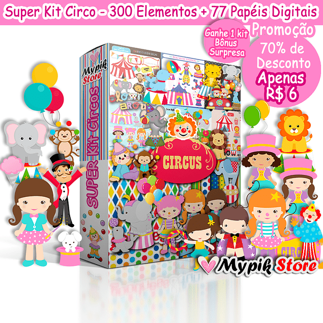 Super Kit Digital Circus Complete Collection to customize and print