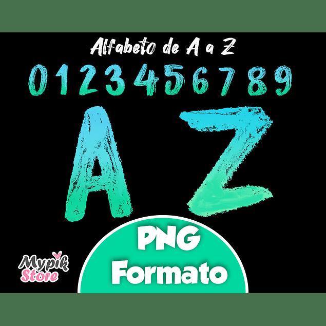 Kit Digital Alfabeto e Números PNG Disney Luca