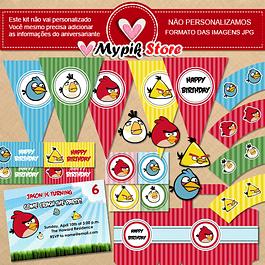 Kit de cumpleaños para imprimir digital de Angry Birds