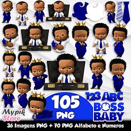 Kit Digital o Poderoso Chefinho Afro Azul