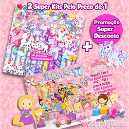 Pack de 2 súper kits digitales: unicornios y princesas