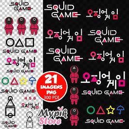 Kit Digital Round 6 - Squid Game imagens png