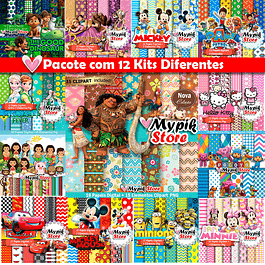 Super Kit Digital com 12 Kits - Coleção Scrapbook