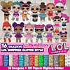 Kit digital LOL Surprise Glitter Style para favores de fiesta personalizados