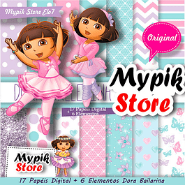 Kit Digital Dora Bailarina Scrapbook