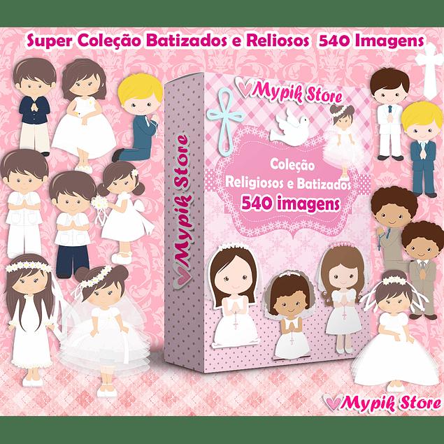 Super Coleção Kit Digital Batizado e Religiosos 520 Imagens