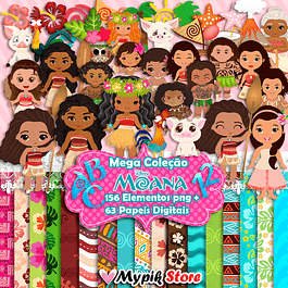 Super Kit Digital Moana Cute Scrapbook