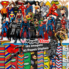 Super Kit Digital Liga da Justiça Scrapbook
