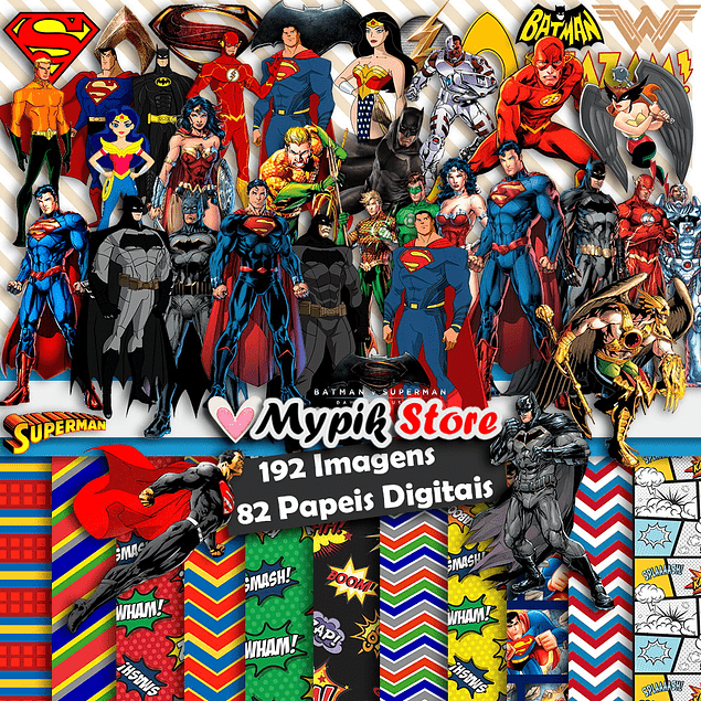 Super Kit Digital Liga da Justiça Scrapbook