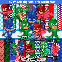 Kit Digital PJ Masks Colección Scrapbook