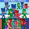 Kit Digital PJ Masks Coleção Scrapbook