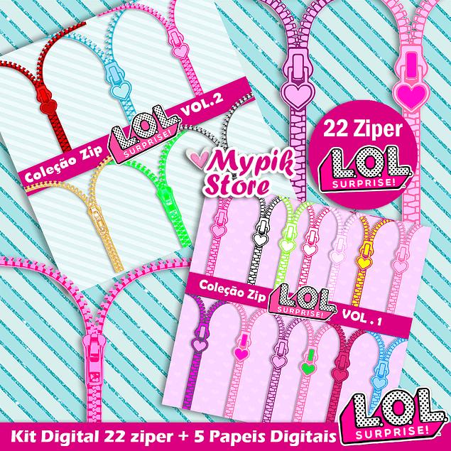 Super Kit Digital Ziper LOL Surprise - Scrapbook