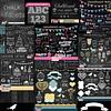 Super Coleção 30 Kits Digitais Chalkboard Scrapbook - Quadro Negro