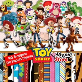 Super Kit Digital Toy Story - Coleção Imagens Scrapbook
