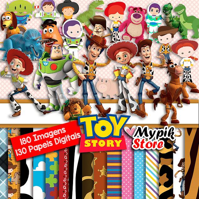 Super Kit Digital Toy Story - Colección Imágenes Scrapbook
