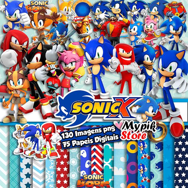 Super Kit Digital Imagens Sonic - Scrapbook