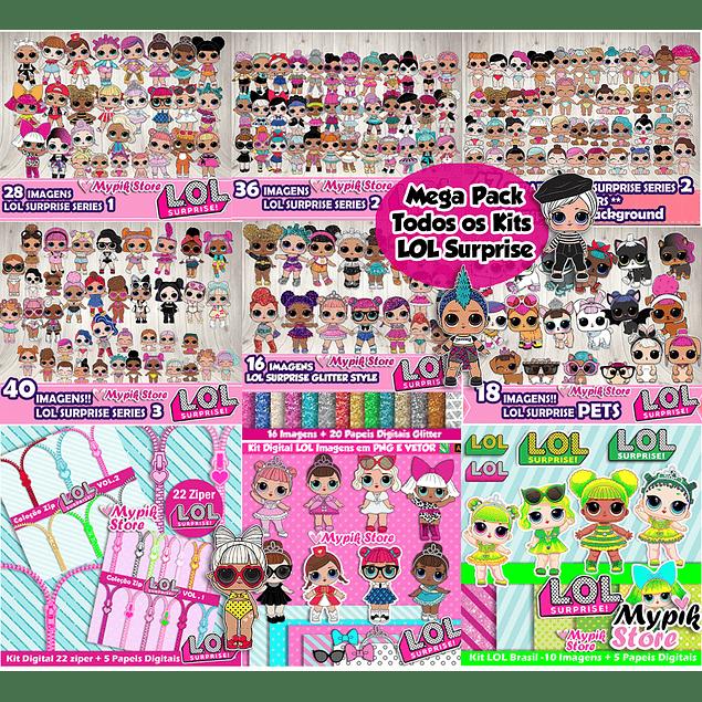 Mega Pack Com todos os Kits LOL Surprise