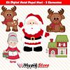 Mega Paquete Navidad con 170 Kits Digitales Imágenes y Papeles Digitales