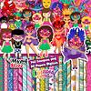 Super Kit Digital Carnaval Imágenes y Papeles Digitales