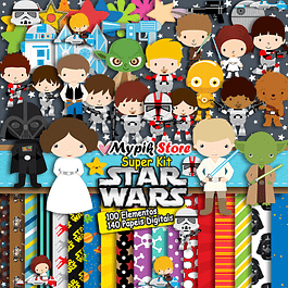 Kit completo digital Super Star Wars