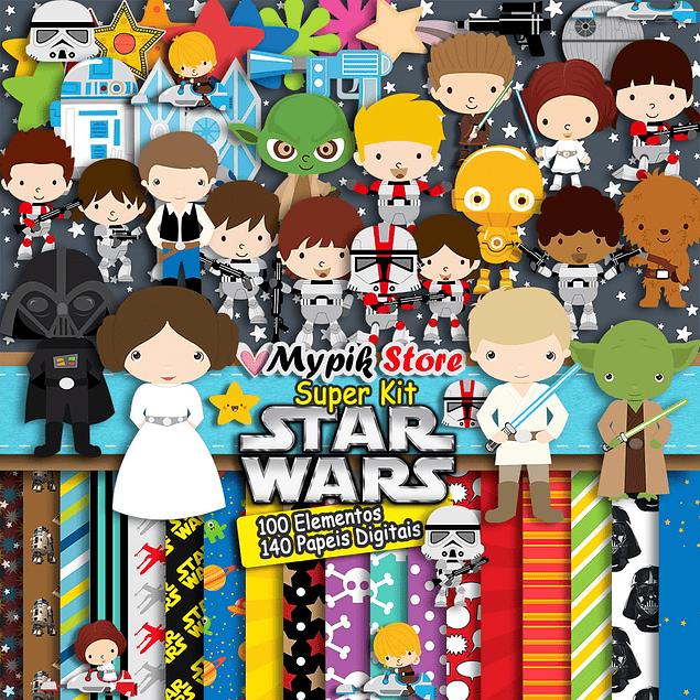 Super Kit Digital Star Wars Completo