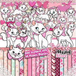 Super Kit Digital Gatinha Marie Scrapbook