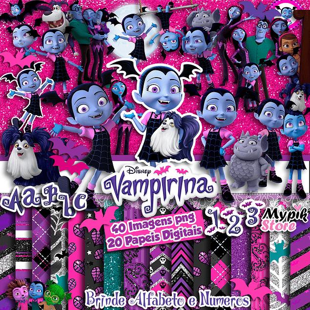 Super Kit Digital Vampirina Images and Digital Papers