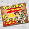 Digital Toy Story PNG Kit Alfabeto Letras y Números clipart