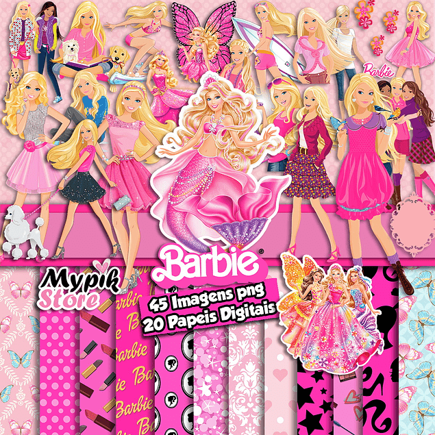 Kit de imagen PNG Super Barbie Digital