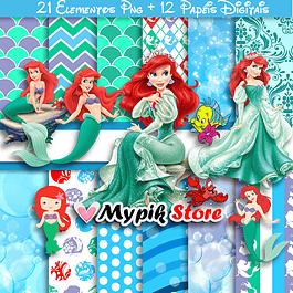 Kit digital Sirenita - Colección Ariel