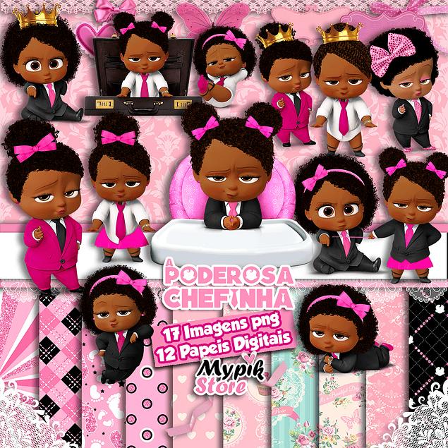 Kit Digital A Poderosa Chefinha Menina Afro