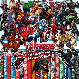 Kit Digital Vengadores Marvel para Imprimir