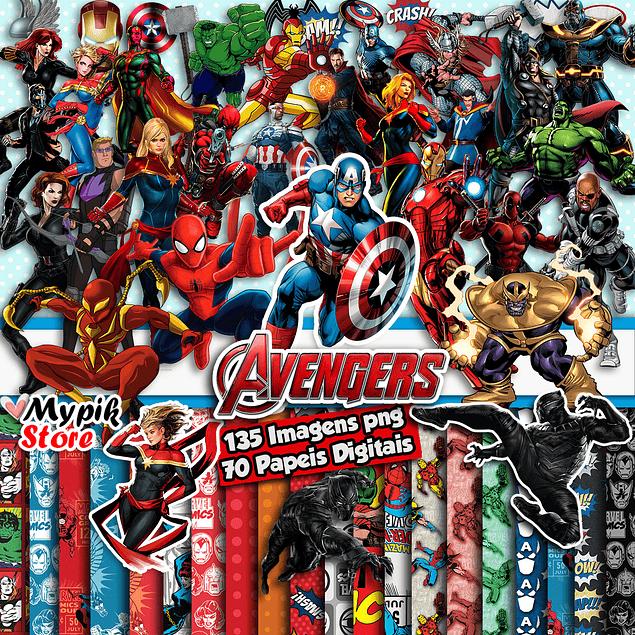 Kit Digital Vingadores Marvel para Imprimir