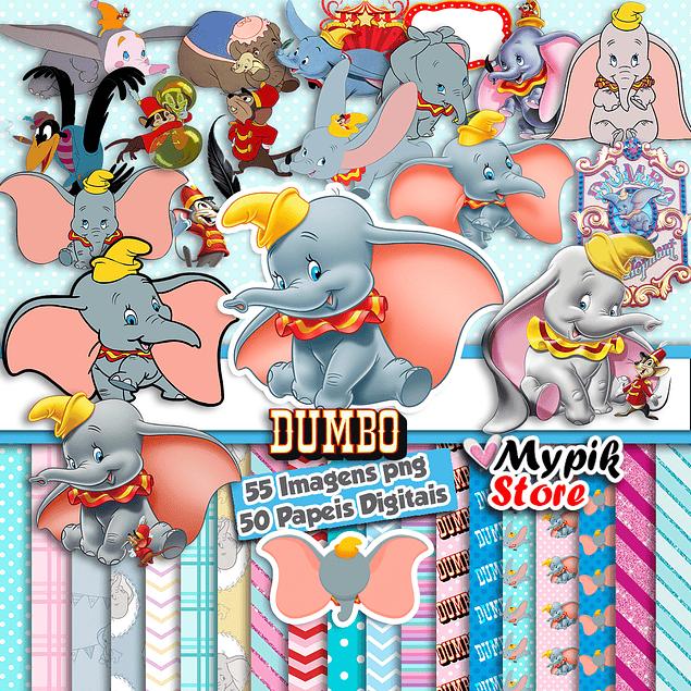 Super Kit Digital Dumbo Imagens png e Papeis Digitais